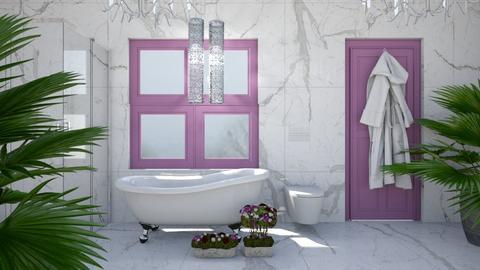 Purple Grey and White - Modern - Bathroom - by millerfam