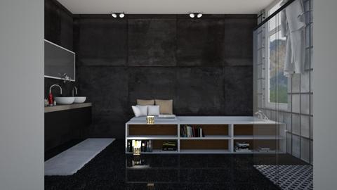 Dark bath - Bathroom - by Aymee Estrella