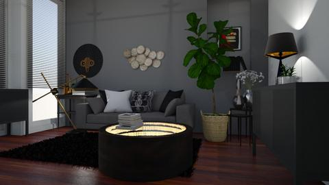 black - Living room - by ClaraBart