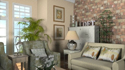 My First Condo Living Room - Country - Living room - by reedj0218