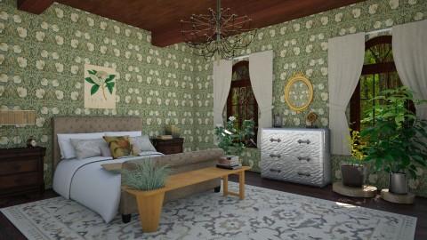 the botanists bedroom - Rustic - Bedroom - by corbu_cat