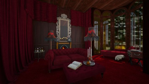 Hotel suite - Vintage - Living room - by amandafern