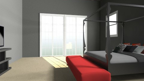 red black andwhite teen   - Bedroom - by laurenmichelle2345