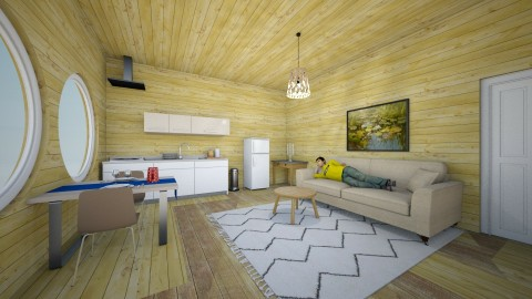 Small woodhouse - Living room - by TARA T