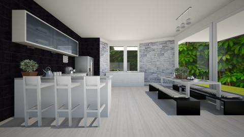 Black and white - Modern - Kitchen - by MariaLaura_cova