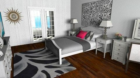 monochrome br - Bedroom - by teen bedroom
