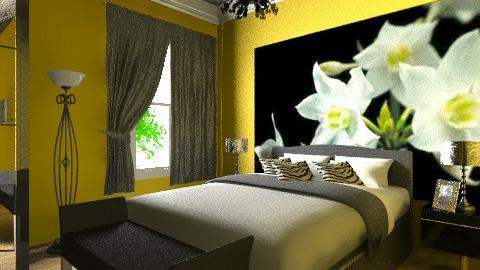 MS yellow - Modern - Bedroom - by Menna Ibrahim