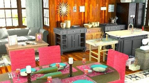 cocina americana - Rustic - Living room - by ATELOIV87