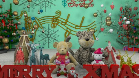 Merry Christmas To All - Classic - Living room - by Bibiche