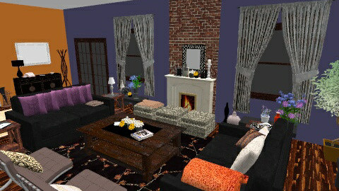 Bold Colors - Classic - Living room - by leahjane