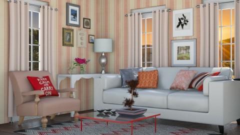 Keep calm - Vintage - Living room - by Liu Kovac