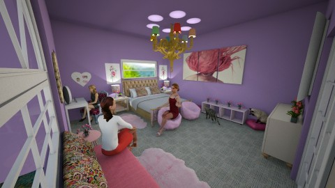 2 20 17 Lavendar Bedroom - Bedroom - by K Aziz
