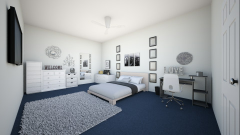 white and grey room - Modern - Bedroom - by criistinaaa18