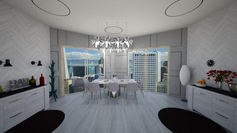 Modern High Rise Dining - Modern - Dining room - by stokeshannah
