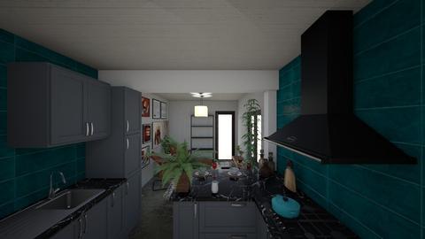 casa do gabriel planta - Kitchen - by jupitervasconcelos