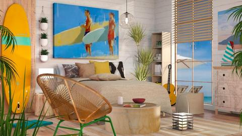 Surf culture Bedroom - Eclectic - Bedroom - by Sally Simpson