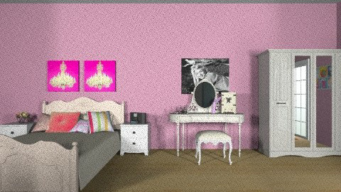 Girly - Feminine - Bedroom - by vintagevanity
