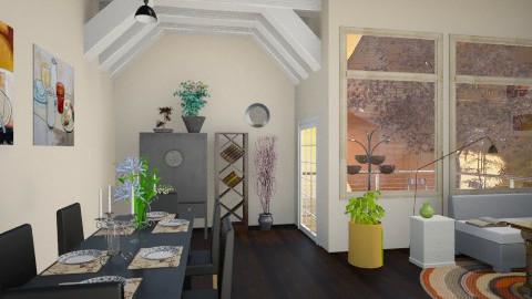 Brown room - Modern - Living room - by vovisanija