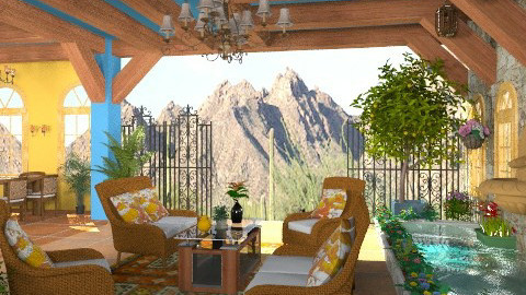 Desert Style - Rustic - Living room - by Bibiche