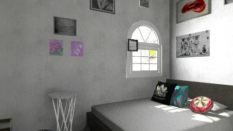Random Room  - Retro - Bedroom - by Abbey Dum