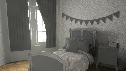 girls bedroom - Vintage - Bedroom - by rororo
