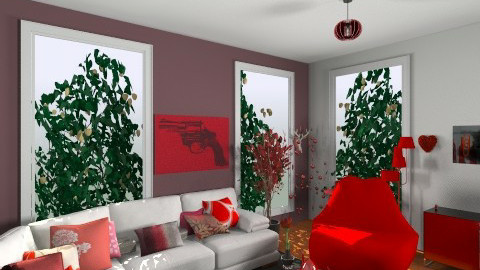Red Living - Living room - by Caro Ferni