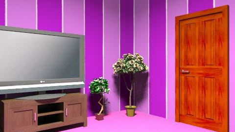 purple room - Modern - Living room - by tekyla