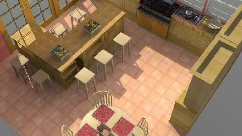 Rustico 1 - Rustic - Kitchen - by Ivannia Arana