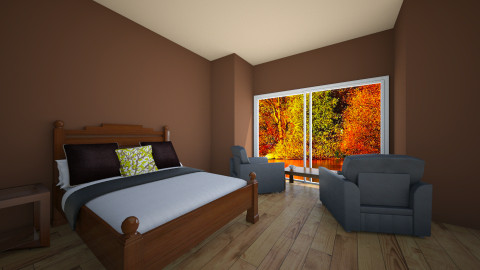 Autumn Lake House - Country - Bedroom - by Julieisawesome