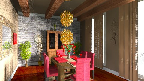 family dining room  - Dining room - by eyeforaneye19