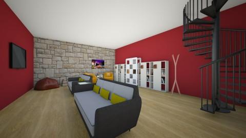 Students hotel - Living room - by carol86dias