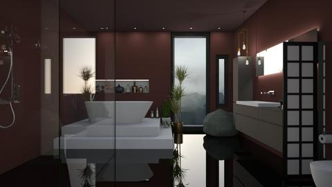 dark bathroom - Bathroom - by Lilaah