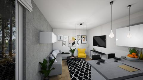 yellow - Living room - by Aleksandra Boguta