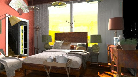 the bedroom - Rustic - Bedroom - by hetregent