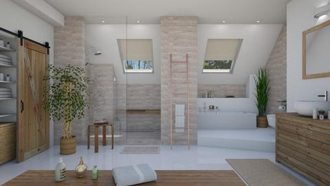 Attic Bathroom - Feminine - Bathroom - by izzykitty