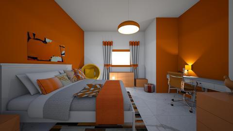 orange sherbet bd and of  - Modern - Bedroom - by jade1111