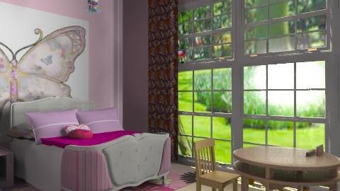 kislányszoba rózsaszínben - Classic - Kids room - by Audrey17