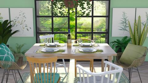 Green - Dining room - by seth96