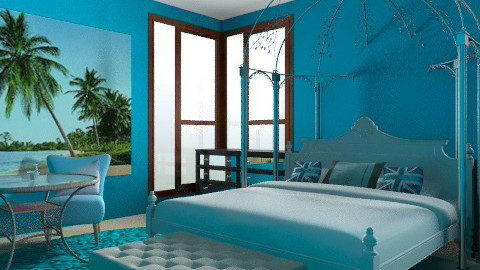Blue Hotel Room - by cici45