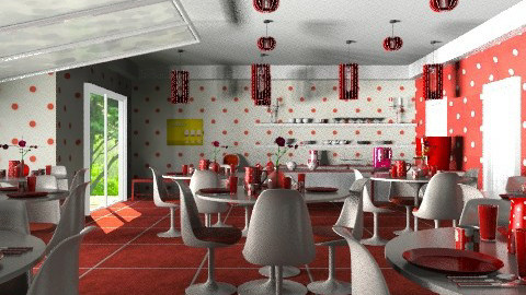 The Polka Dot Cafe - Retro - by alleypea