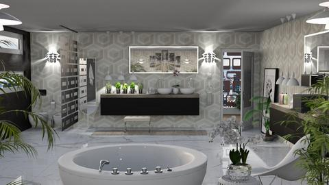 City Lights White Version - Retro - Bathroom - by LuzMa HL
