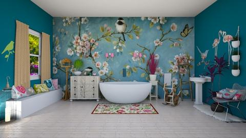Bird bathroom - Bathroom - by ashpashly
