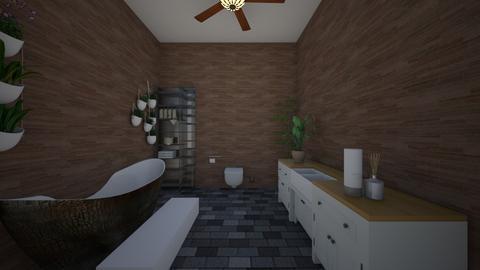 Jungle bathroom  - Bathroom - by Little larson