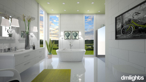 modern aloe - Bathroom - by DMLights-user-982918