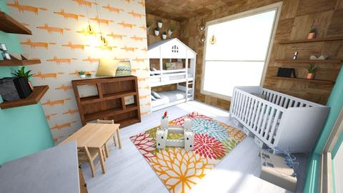 Woodland Themed Kids' Room - Rustic - Kids room - by Rebekah Pincock