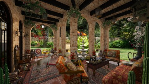 Design 42 Hacienda Patio - Garden - by Daisy320