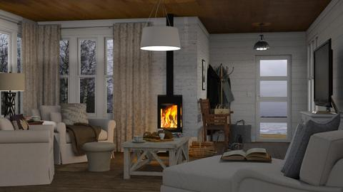 Boathouse on Ice - Living room - by GraceKathryn