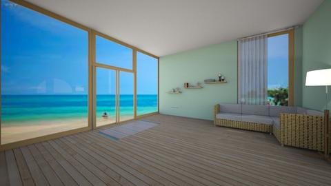 Beach house - Living room - by cswncreate