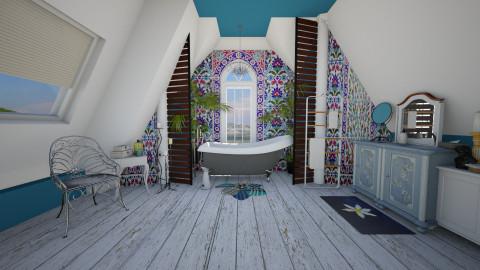 blue boho attic - Classic - Bathroom - by donella