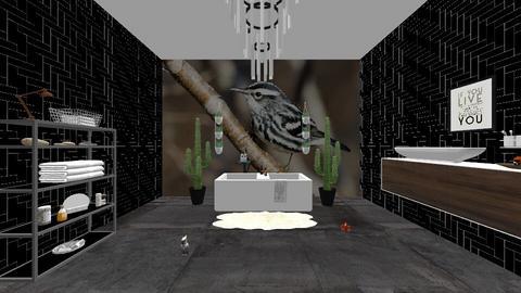 birds bathing - Bathroom - by absarecool